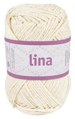 Lina 68% bomulls garn naturvit 16202 från Järbo