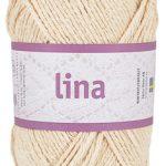 Lina 68% bomulls garn beige 16203 från Järbo