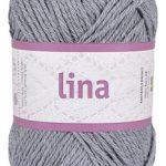 Lina 68% bomulls garn grå 16206 från Järbo