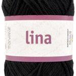 Lina 68% bomulls garn svart 16207 från Järbo