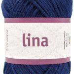 Lina 68% bomulls garn blå 16212 från Järbo