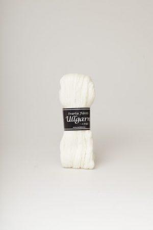 Svarta fåret 1-trådigt ullgarn vit 05
