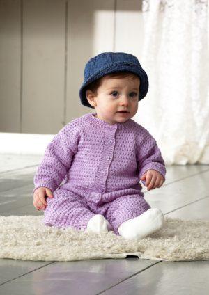 Stick mönster: 2081. Ett härligt set till din baby.