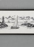 Korsstygns tavla segelbåt BS 1631