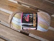 Mercan Batik blå-beige melerad 531